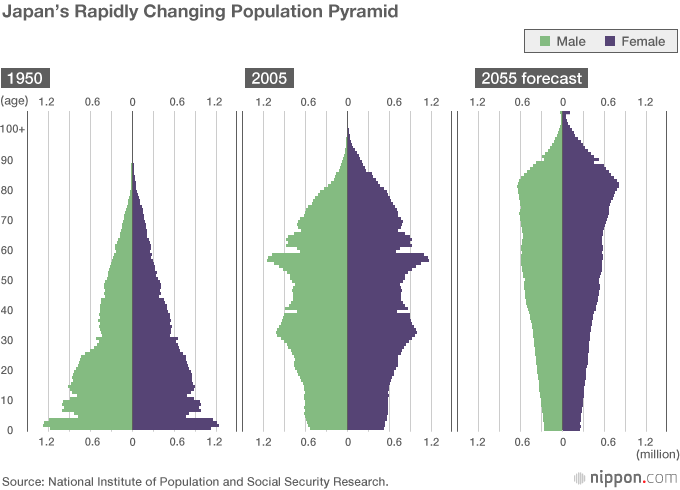 Japan's Rapidly Changing Population Pyramid